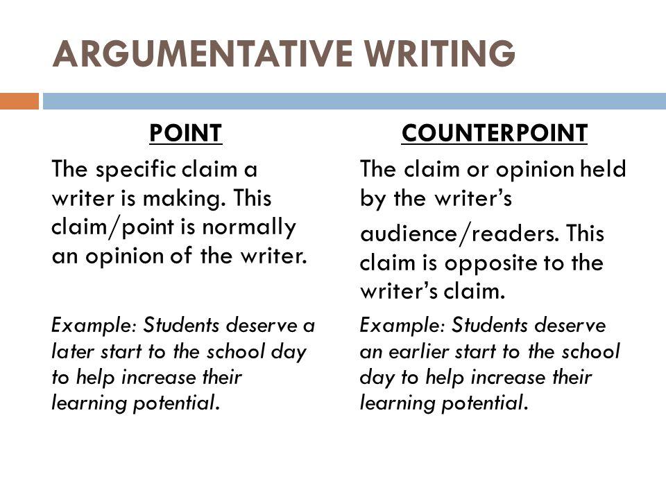 Argumentative essay ppt