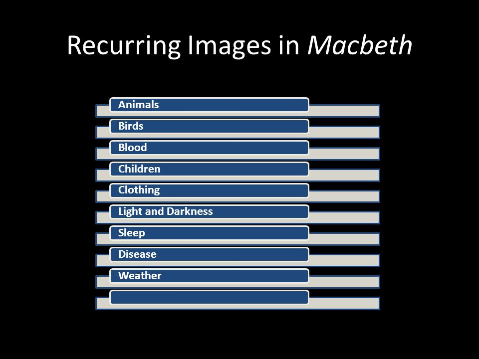 macbeth illness motif Macbeth study questions macbeth by: william shakespeare summary plot overview  one of the important themes in macbeth is the idea of political legitimacy, of .