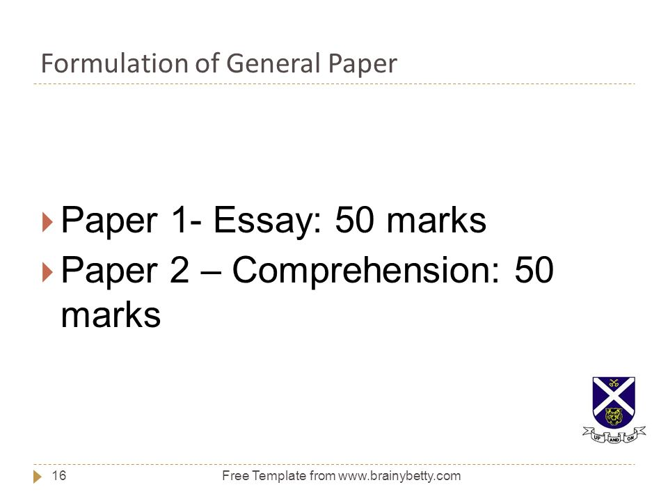 Thesis For Argumentative Essay Formulation Of General Paper Family Business Essay also Essay Thesis Statement Introduction To General Paper  Ppt Download Thesis Statement For An Essay