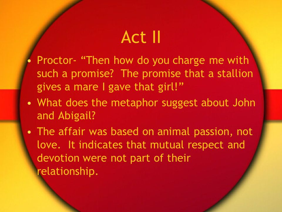 why does reverend hale visit the proctors? essay Why does reverend hale visit the proctors how does john proctor respond to questions about why he  what does the ending of act ii  task iii essay.