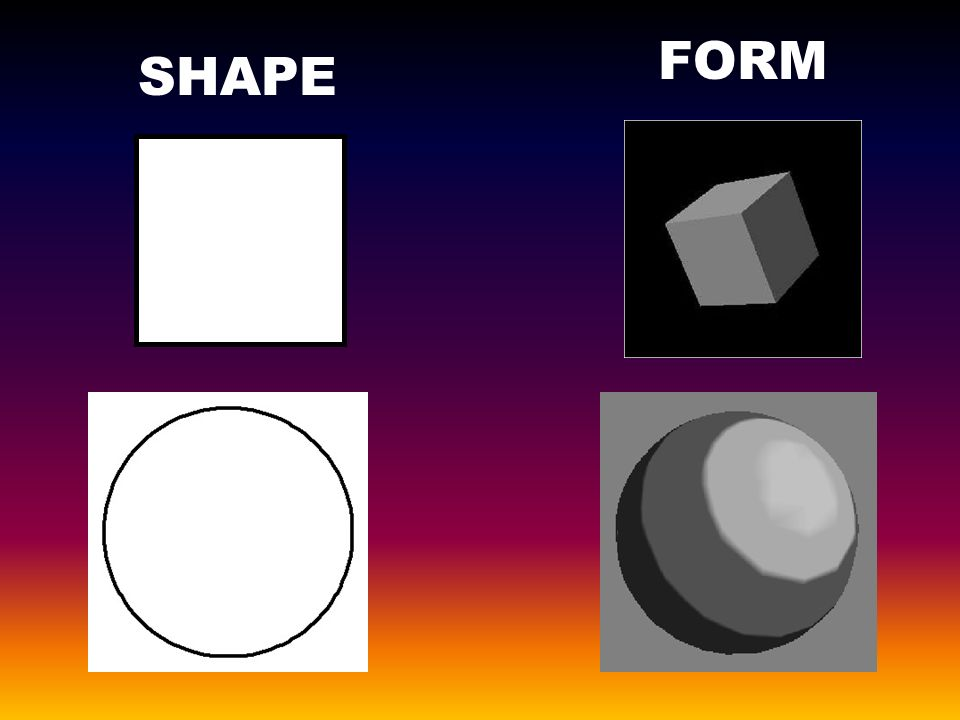 Form Shape And Space : Elements line form shape value texture space color