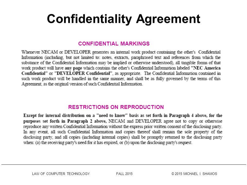 Confidentiality Agreement  Confidentiality Clause Contract