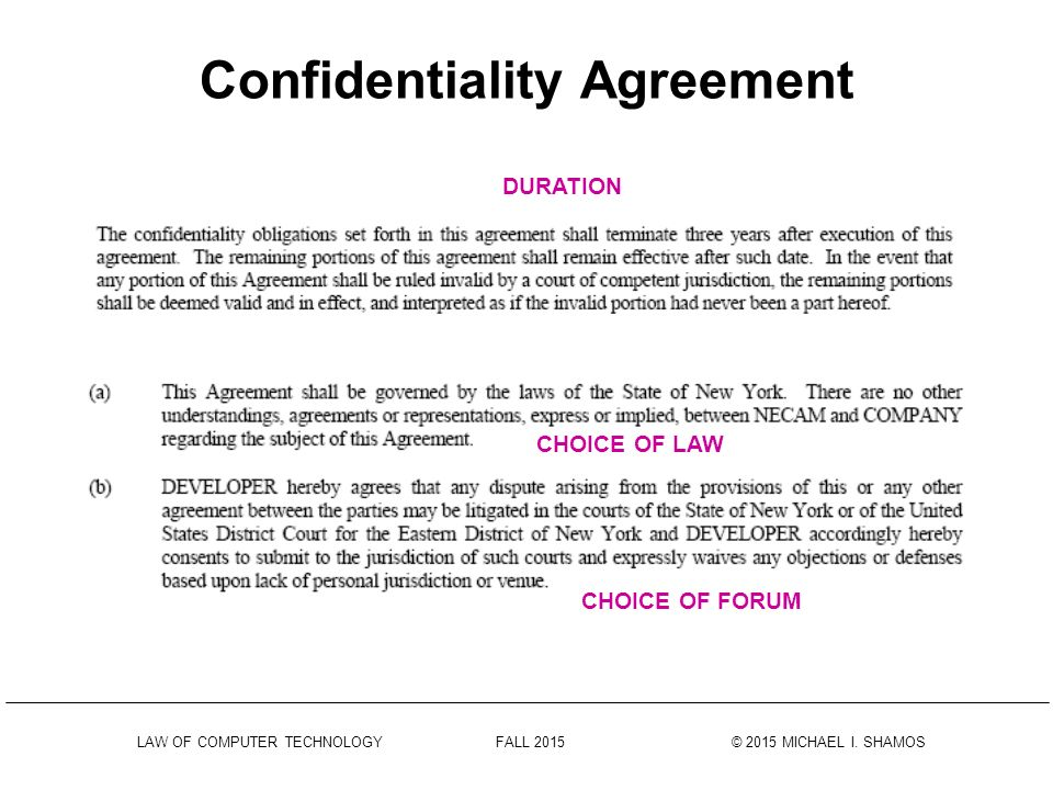 Confidentiality Agreements - Ppt Download