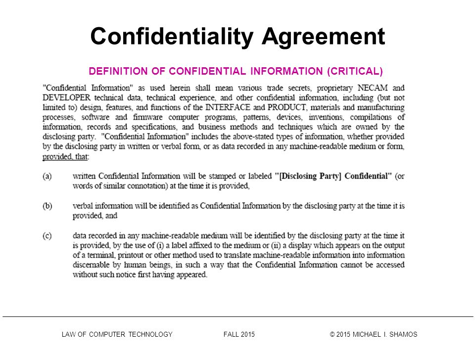 Data Confidentiality Agreements Data Sharing Confidentiality