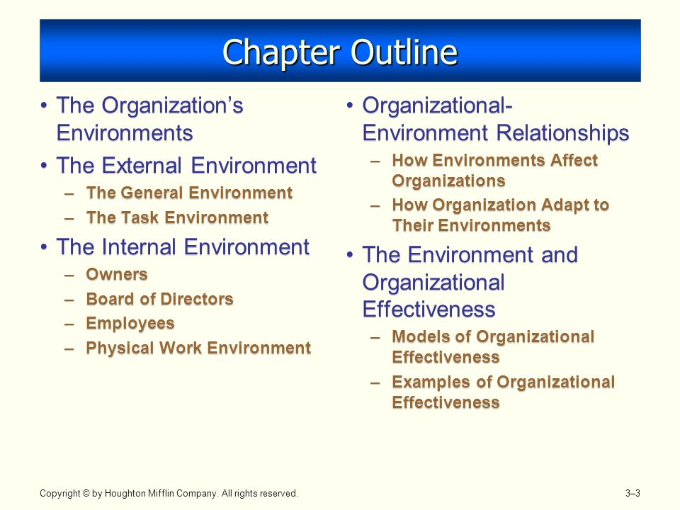 organizations general task and internal environments External and internal environments: amazon segments of the general environment that would rank had severely affected the most of the organizations.