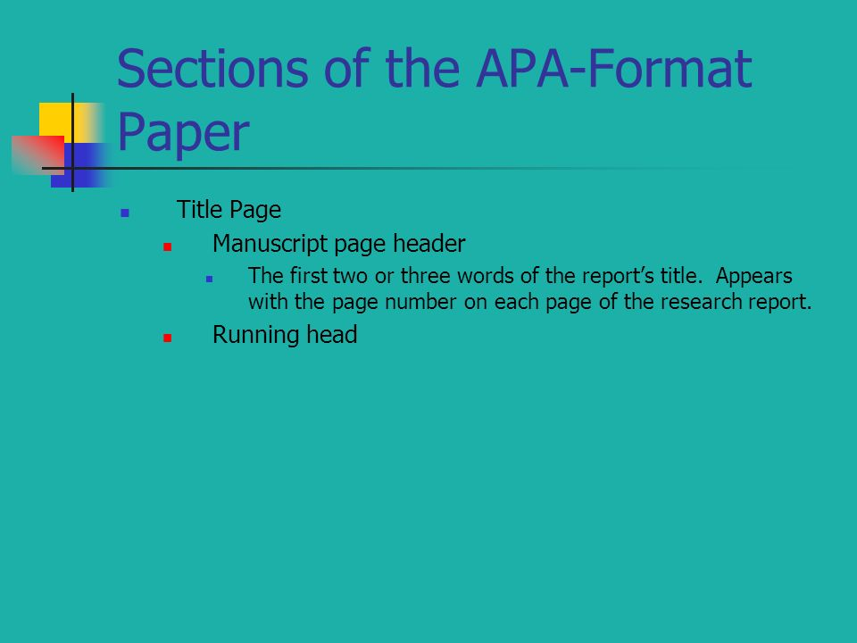 apa paper sections research paper Psychology/neuroscience 201 how to write an apa style research paper an apa-style paper includes the following sections: title page, abstract, introduction, method, results,.