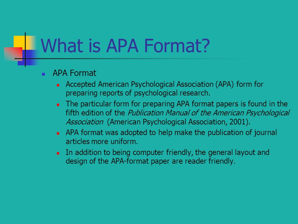 what is apa form
