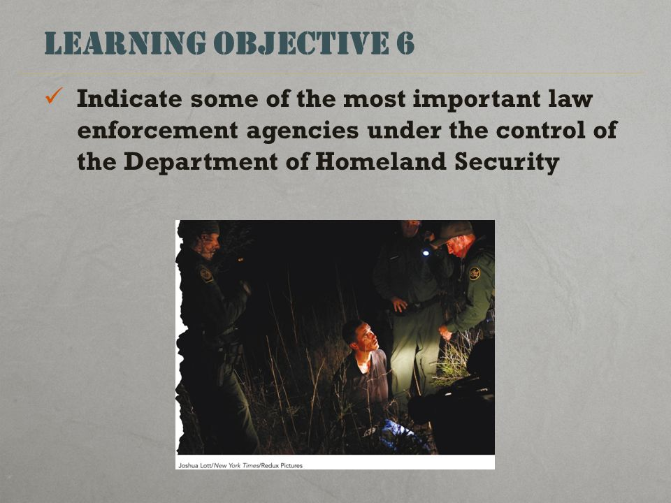 law enforcement objective