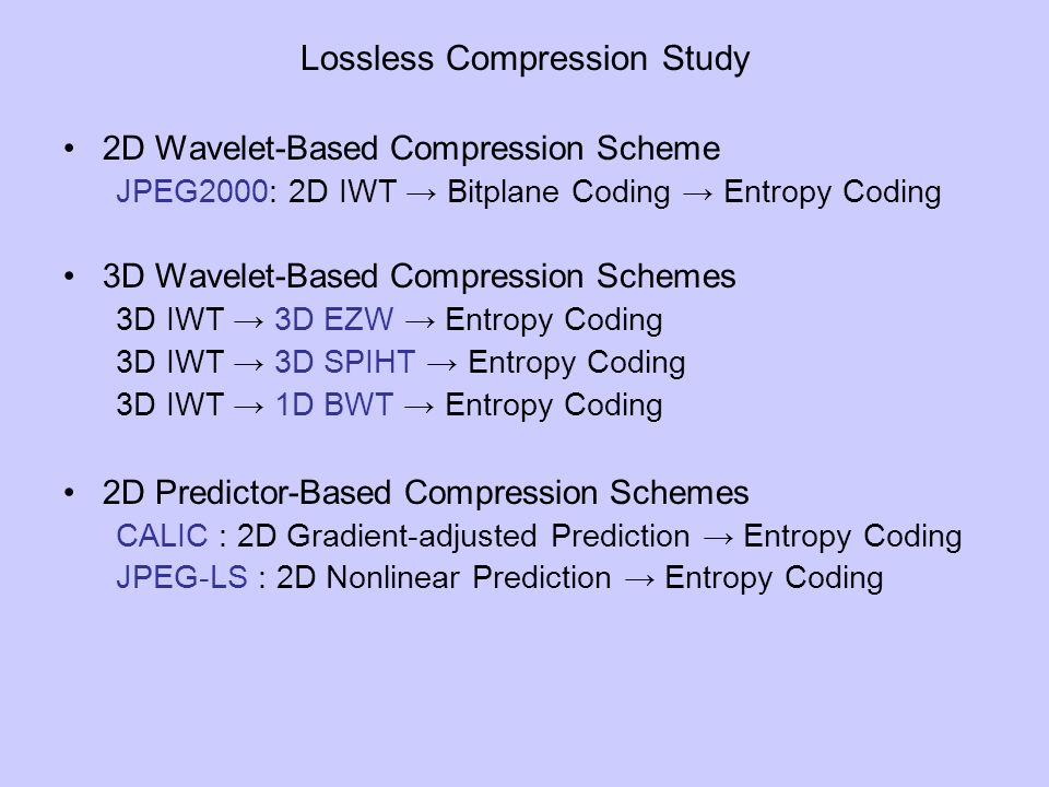Lossless Compression Study
