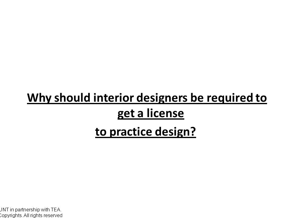 Why Should Interior Designers Be Required To Get A License