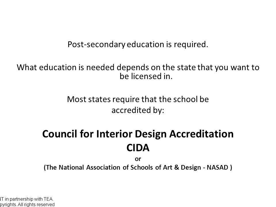 5 Council For Interior Design Accreditation CIDA