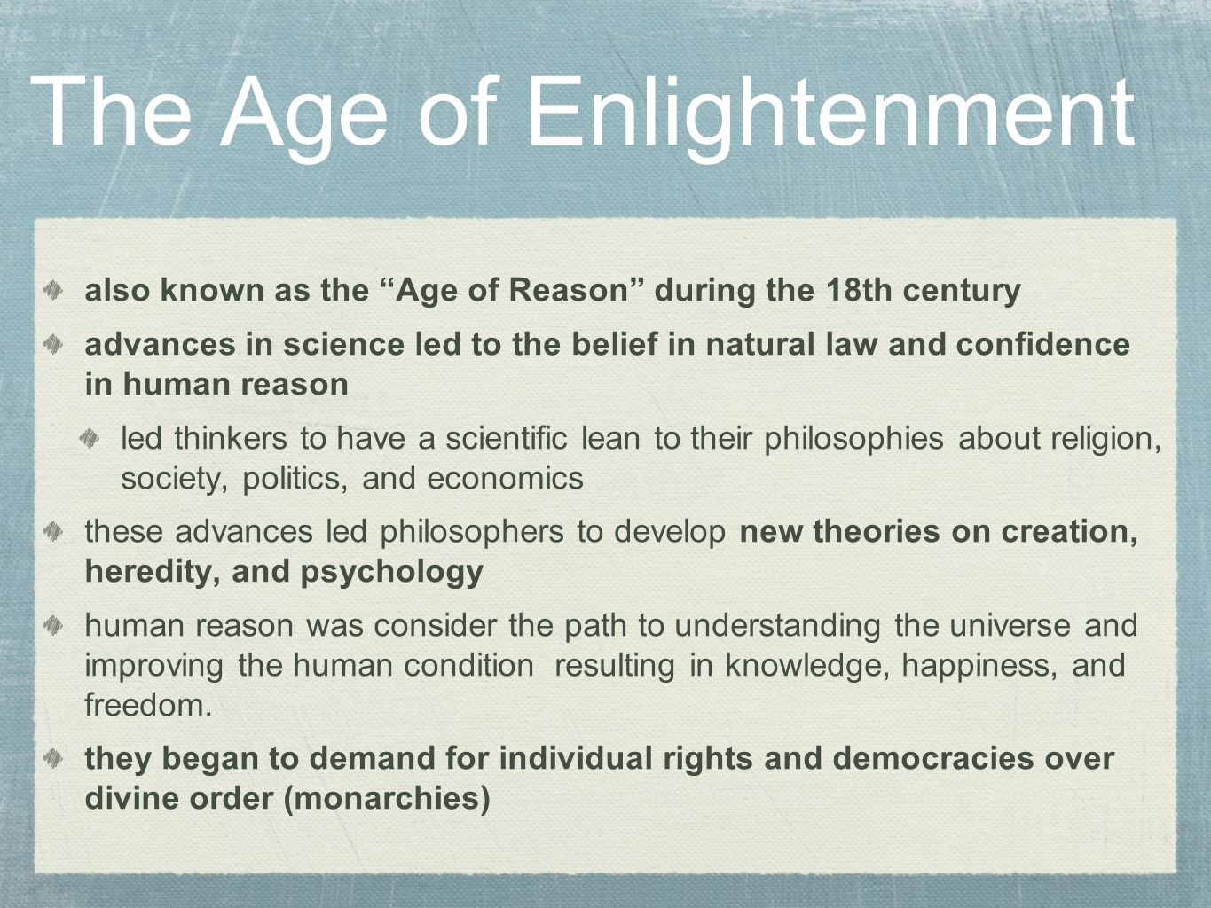 Image result for in context the enlightenment