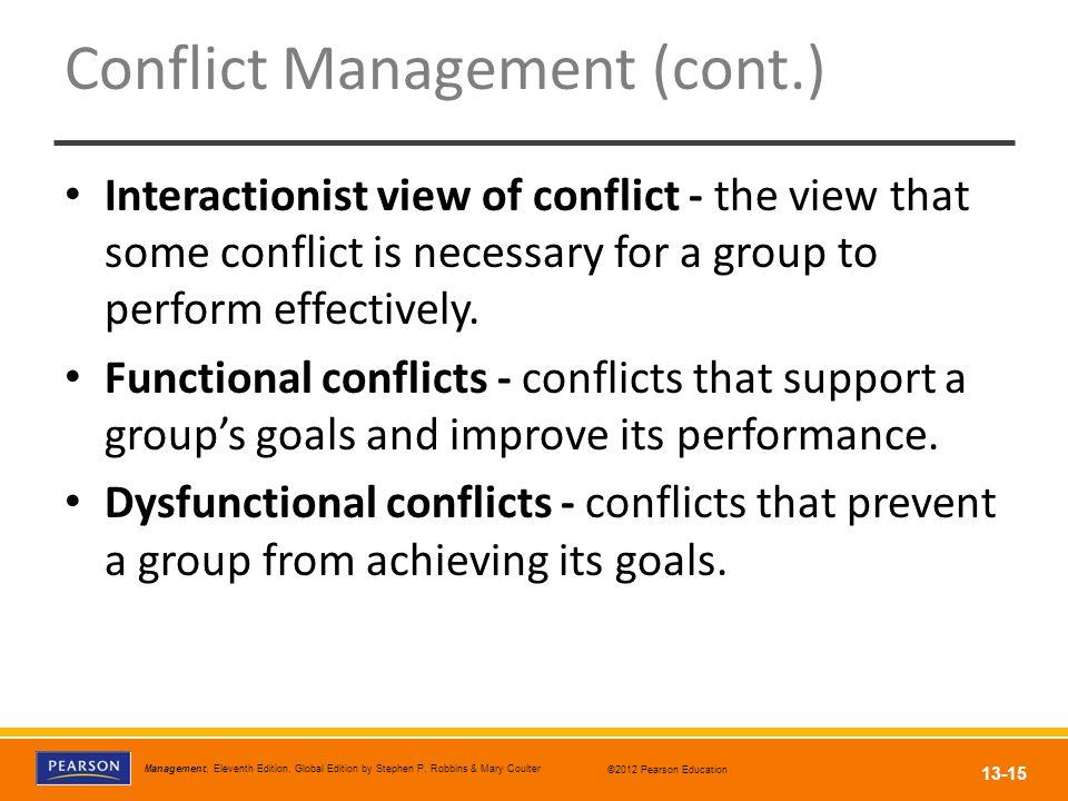 Conflict Management (cont.)