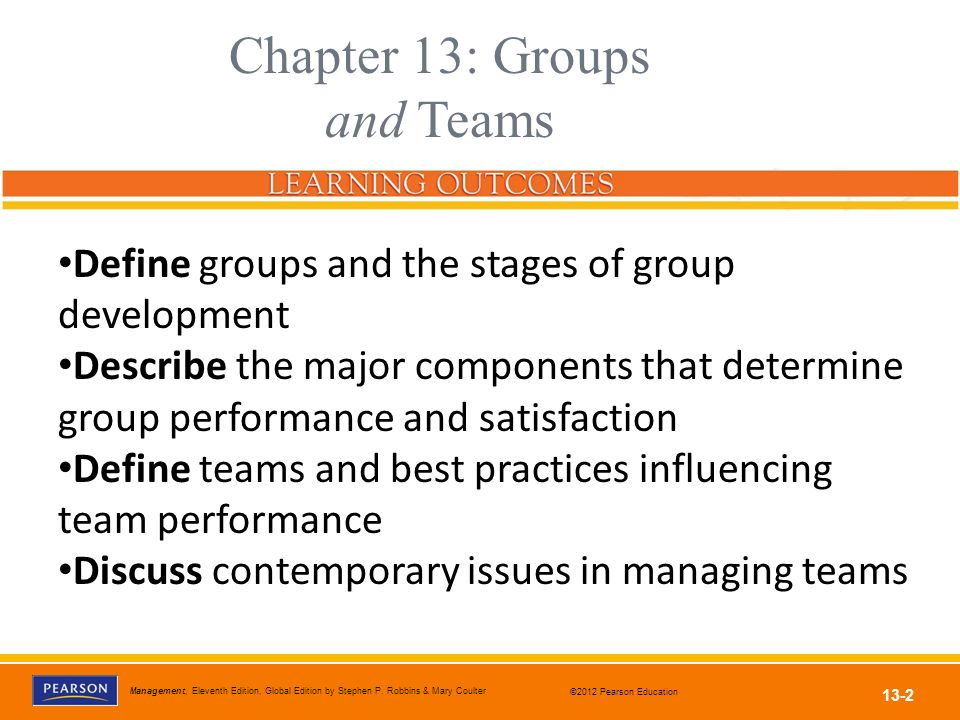 Chapter 13: Groups and Teams