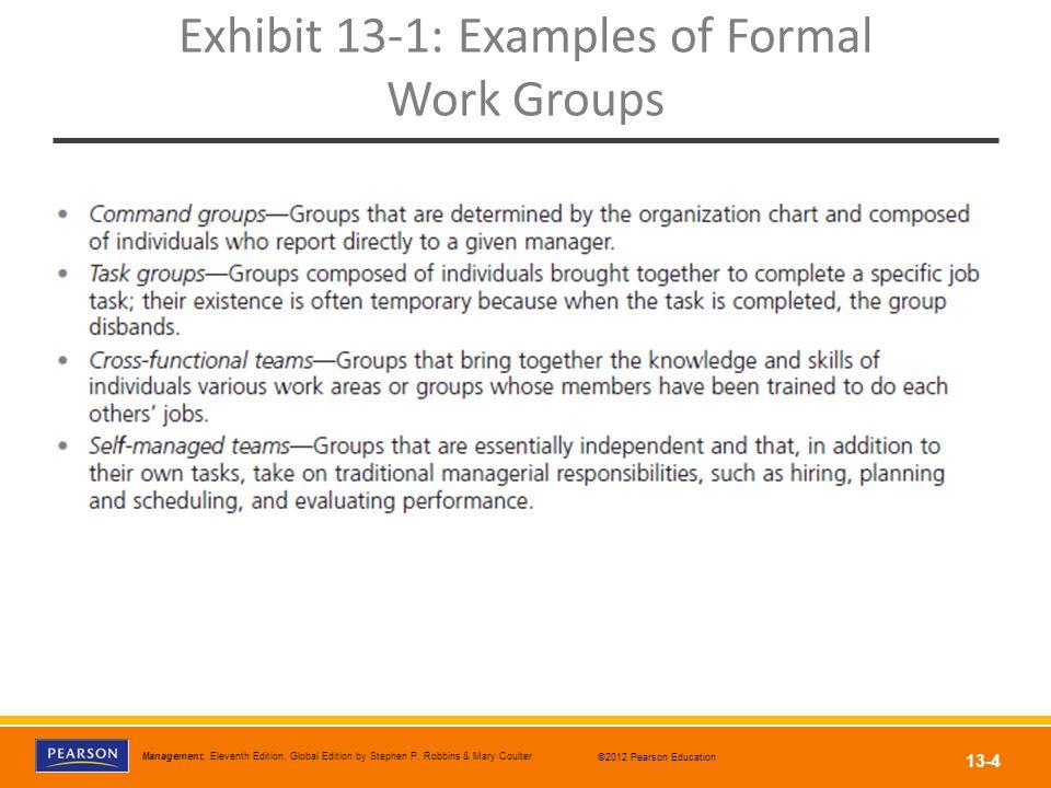 Exhibit 13-1: Examples of Formal Work Groups