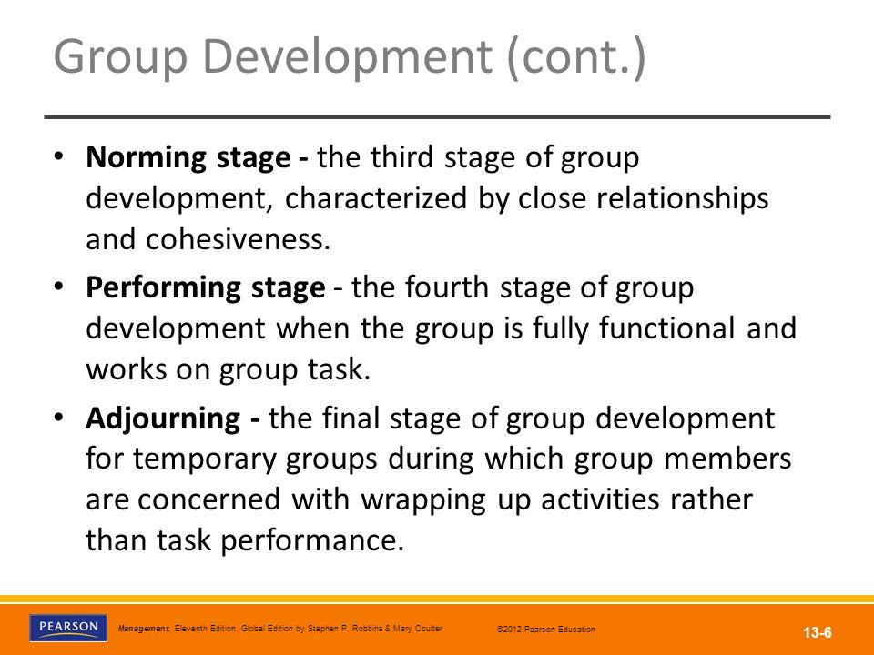 Group Development (cont.)