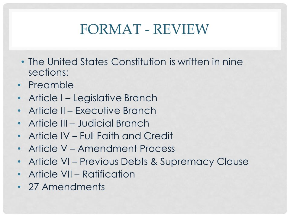 an analysis of rules of us constituion Constitution of the united states of america: analysis and interpretation the constitution of the united states of america: analysis and interpretation (popularly known as the constitution annotated) contains legal analysis and interpretation of the united states constitution, based primarily on supreme court case law.