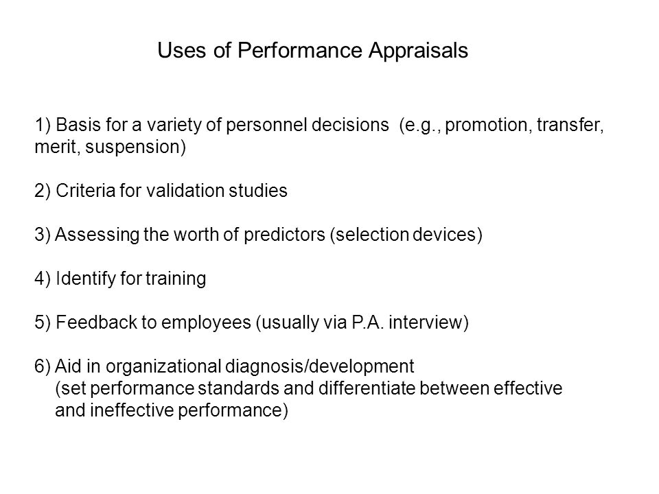 Why managerial performance appraisals are ineffective