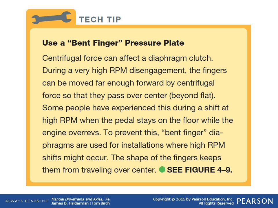 Tech Tip Use a Bent Finger Pressure Plate Centrifugal force can affect a diaphragm clutch.