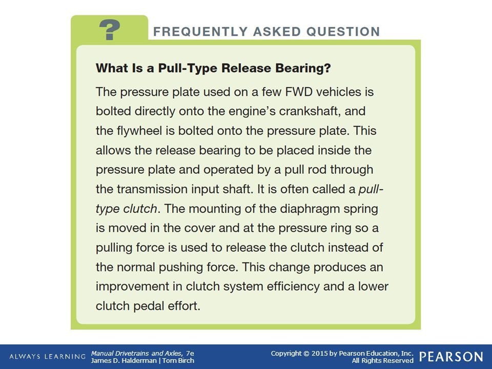 Frequently Asked Question What Is a Pull-Type Release Bearing