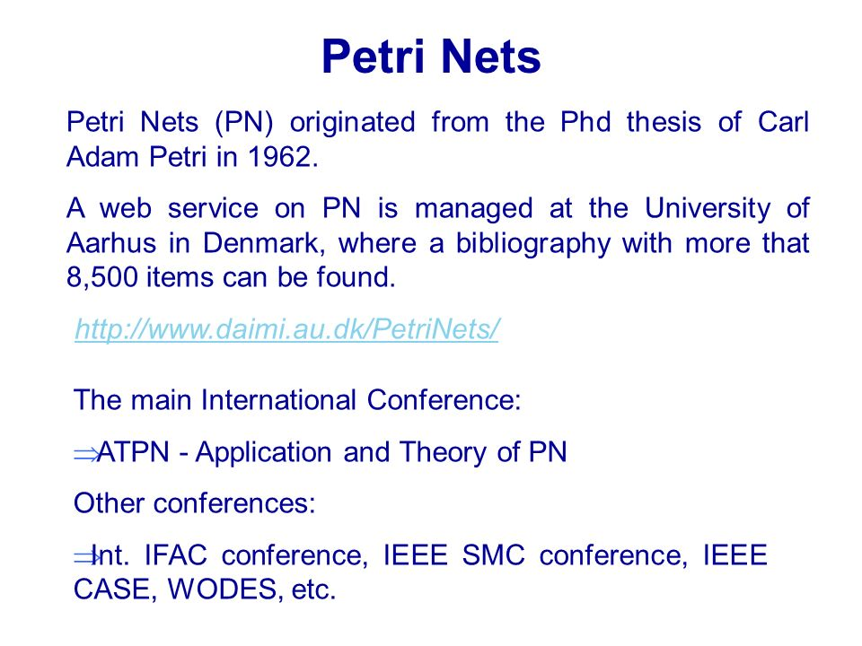 petri online thesis