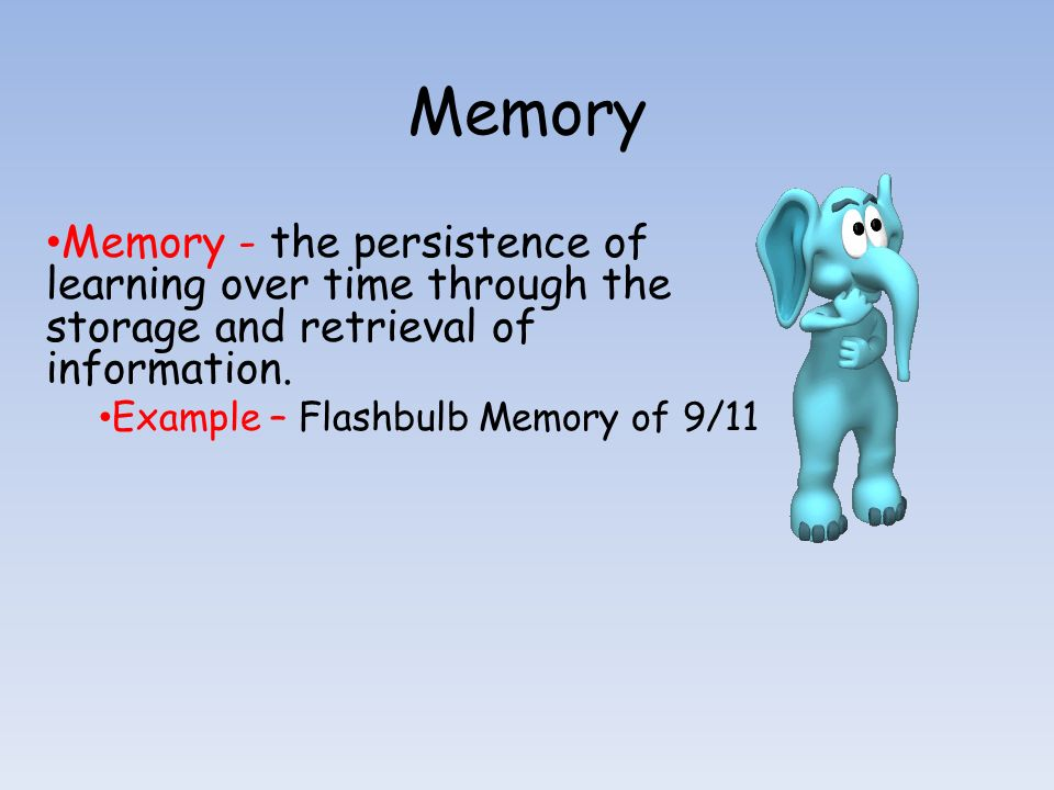 cognitive essay flashbulb in memory psychology Flashbulb memories essay this form of memory is also known as flashbulb memory (brown and kulik  cognitive psychology and memory.
