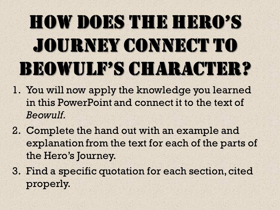 beowulf essay about heroism Essays and criticism on huppé asserts that the author of beowulf demonstrates by antithesis the concept of the christian hero and shows how beowulf's lack of.