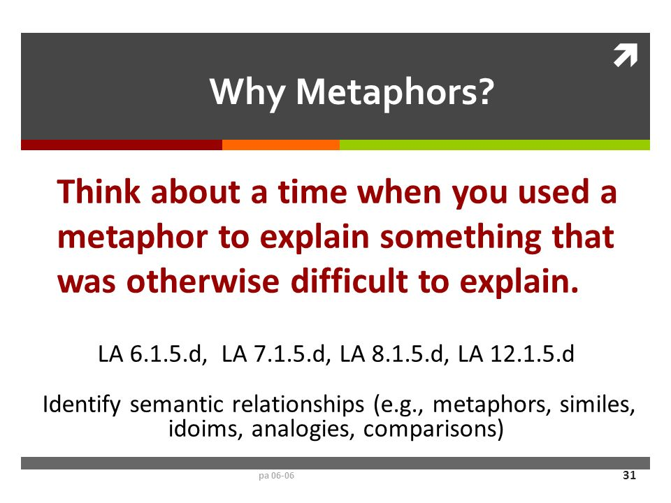 how to think of metaphors