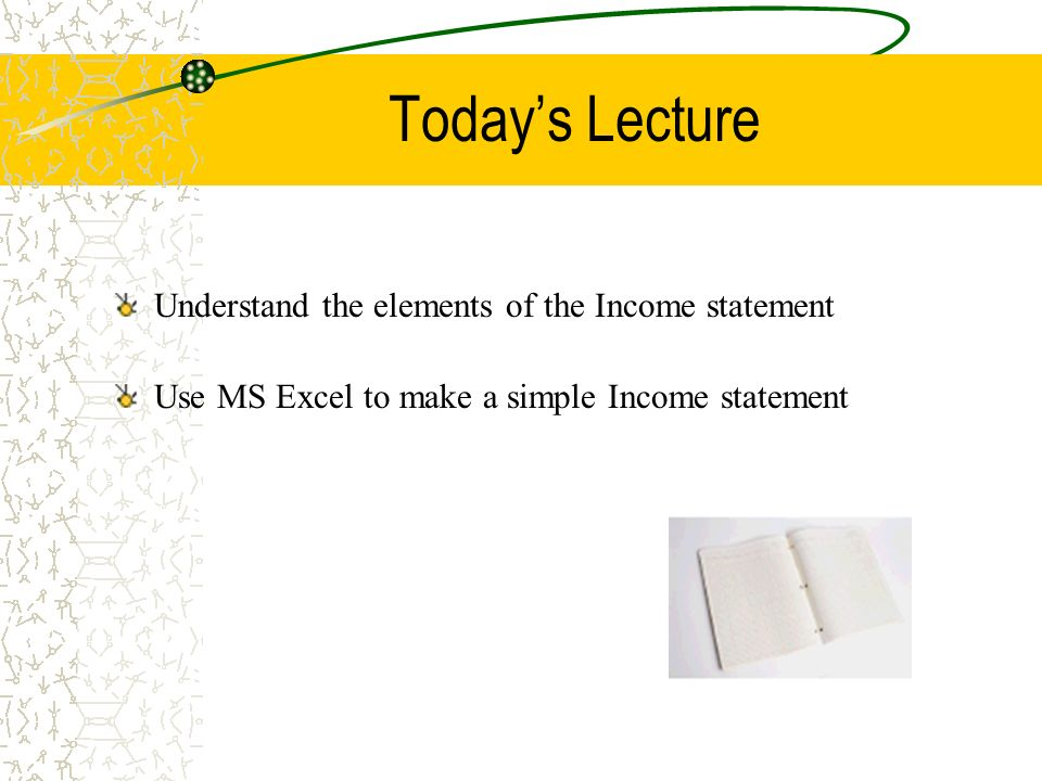The Income Statement Lecture   Ppt Video Online Download