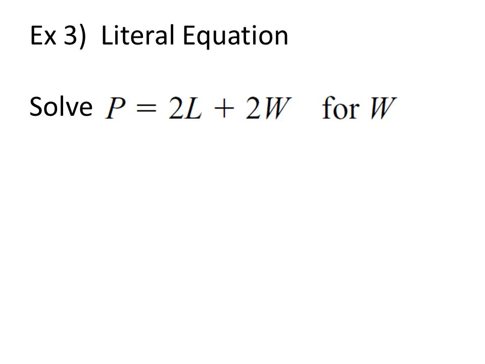Linear Equations with Fractions ppt download – Literal Equations Worksheet