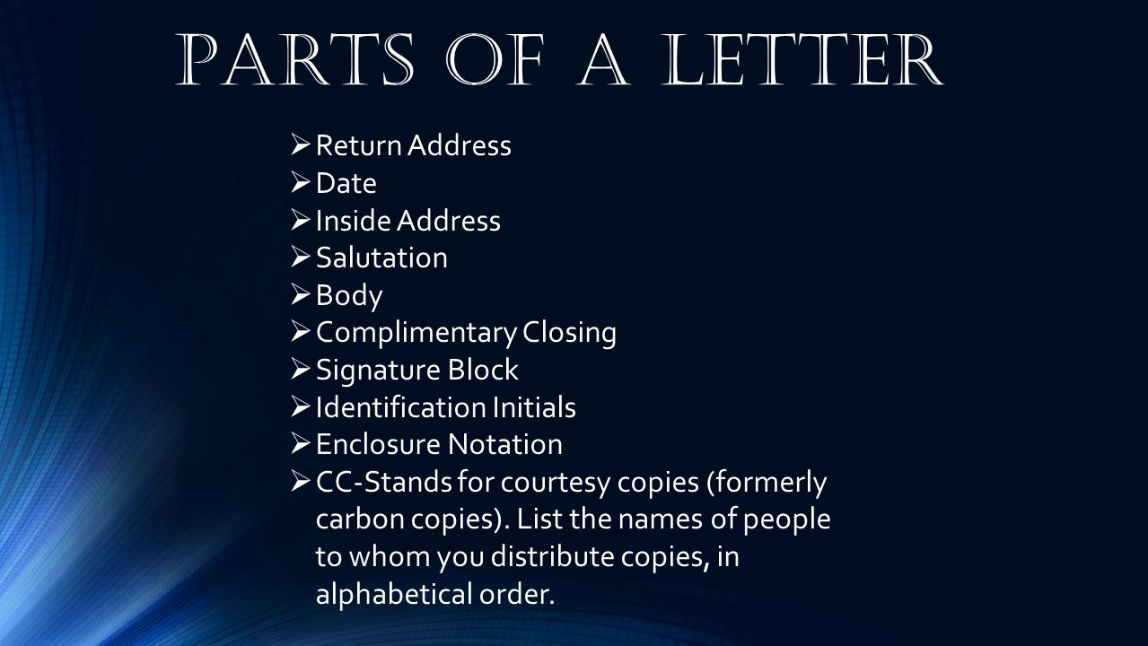 Letters Ppt Video Online Download
