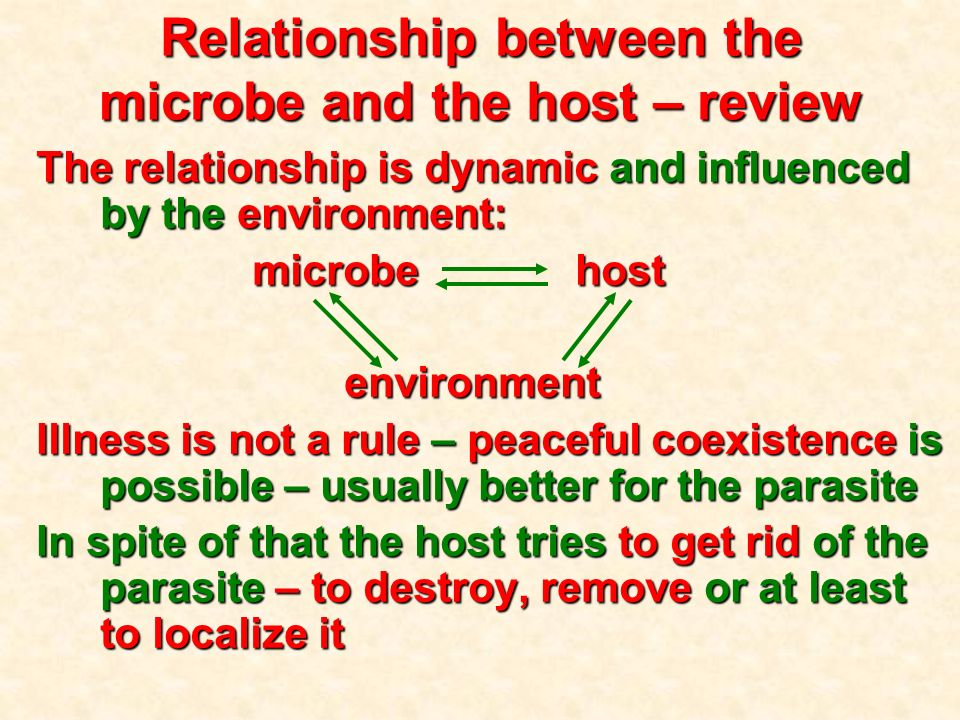 host parasite and environment relationship