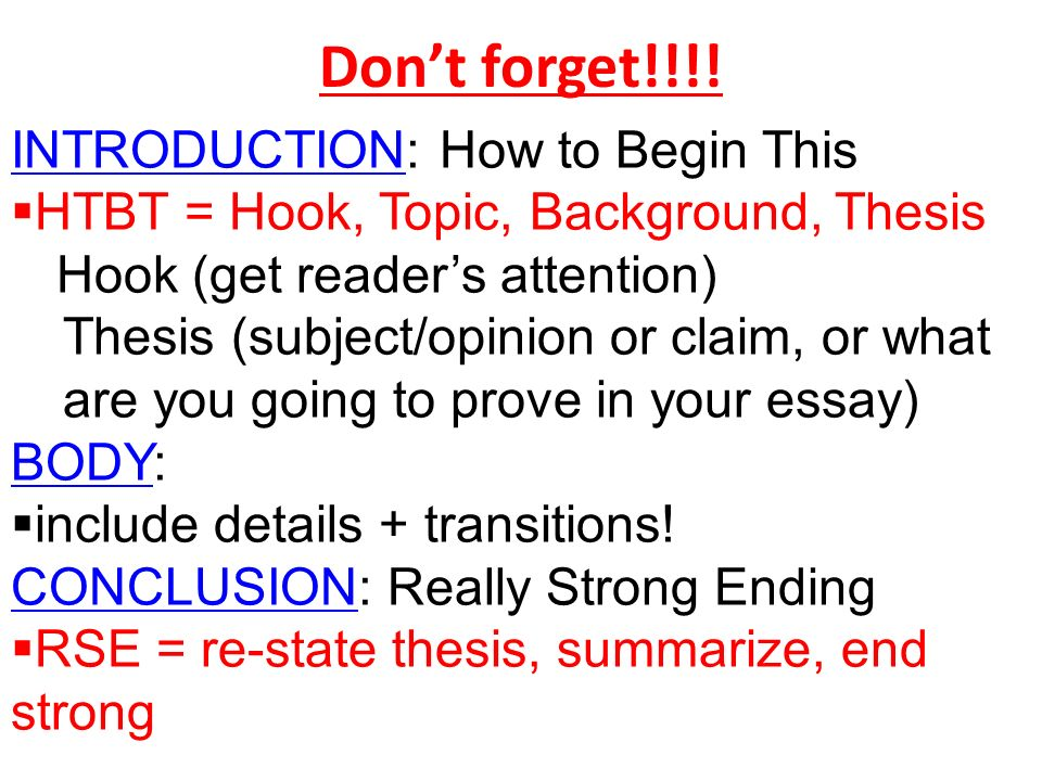 How to begin a college application essay conclusion!