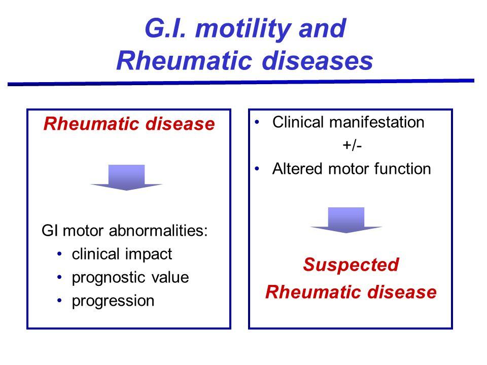 G.I. motility and Rheumatic diseases