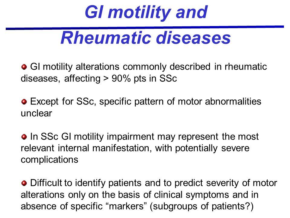 GI motility and Rheumatic diseases