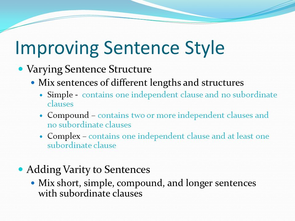 Writing effective sentences ppt download for Soil in sentence