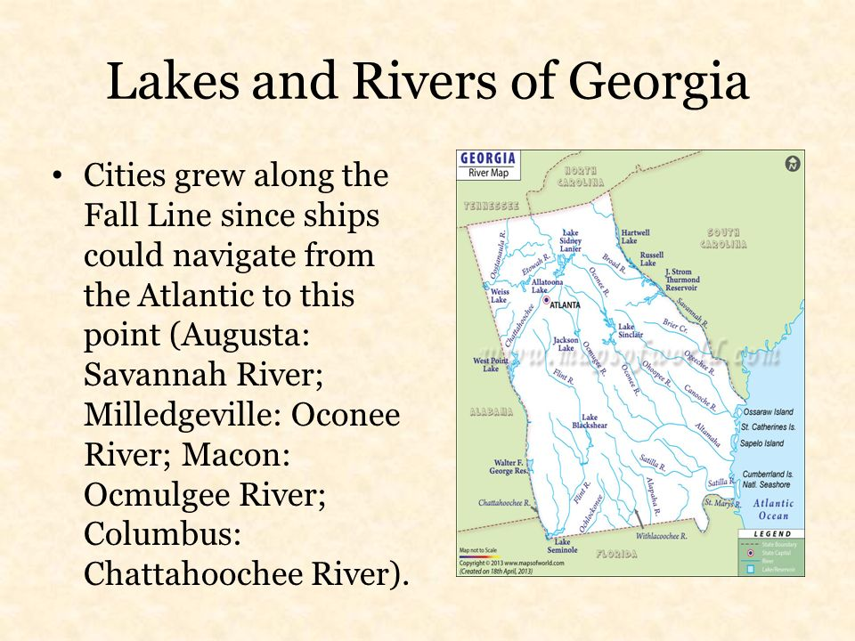 Map Of Georgia Fall Line County Map Of Georgia Highlighting Bibb - Georgia map fall line