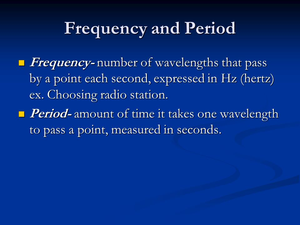 how to find period and frequency
