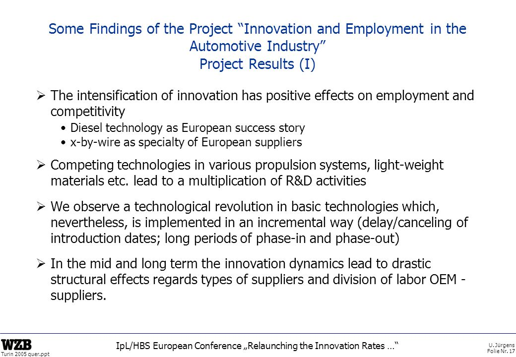 "IpL/HBS European Conference ""Relaunching the Innovation Rates …"