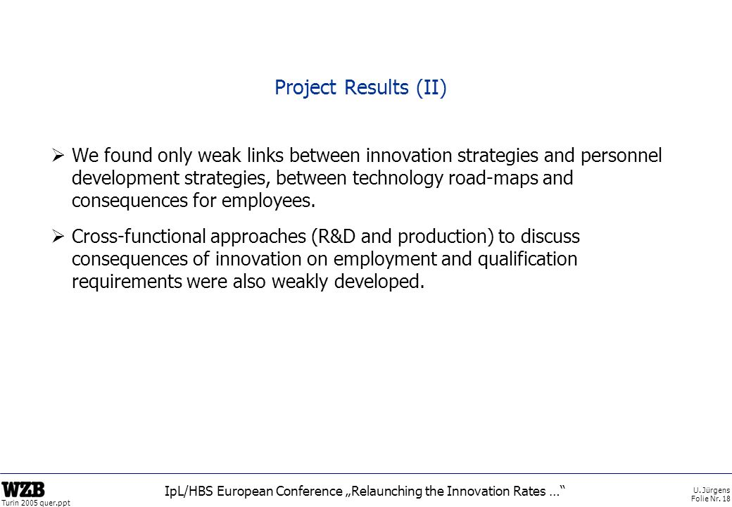 """IpL/HBS European Conference """"Relaunching the Innovation Rates …"""