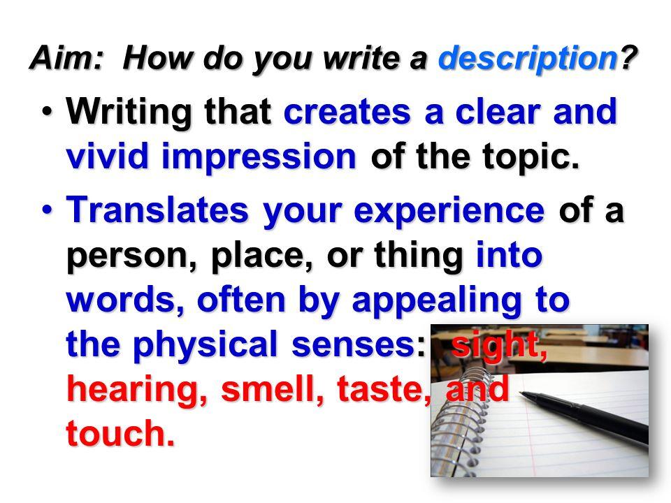 Essay Description