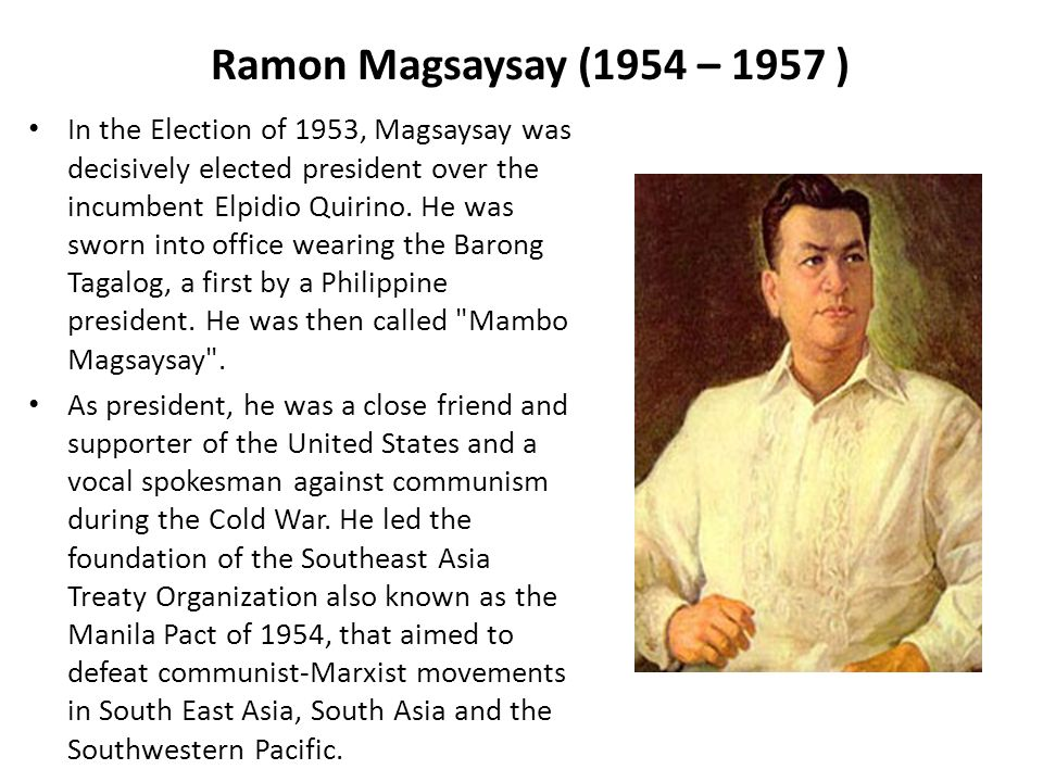 achievements of ramon magsaysay during his presidency Contributions and achievements: inaugurated as the first president of the new republic after world war ii reconstruction from war damage and life without foreign rule began during his presidency under his term6/21/2017 philippine presidents: their achievements and contributions | infinithink.