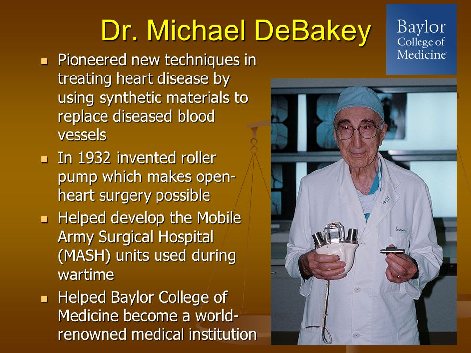 Image result for michael debakey artificial heart inventor