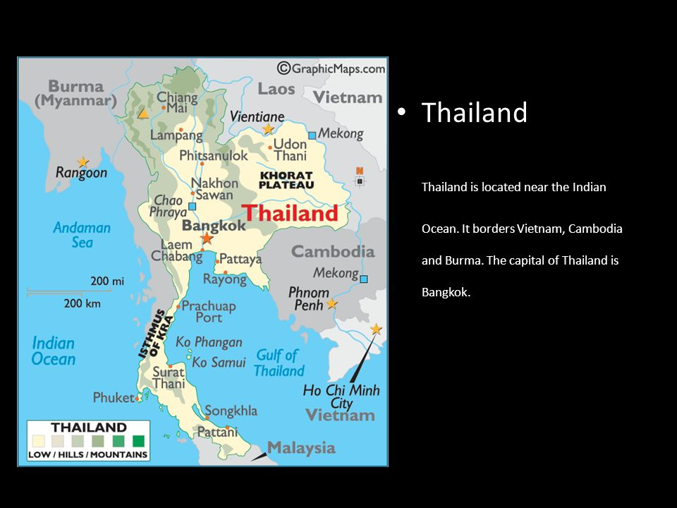 Thailand By Bethany Cody Ppt Download - Where is thailand located