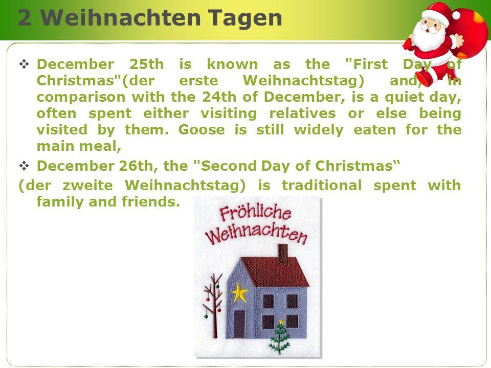 2 Weihnachten Tagen