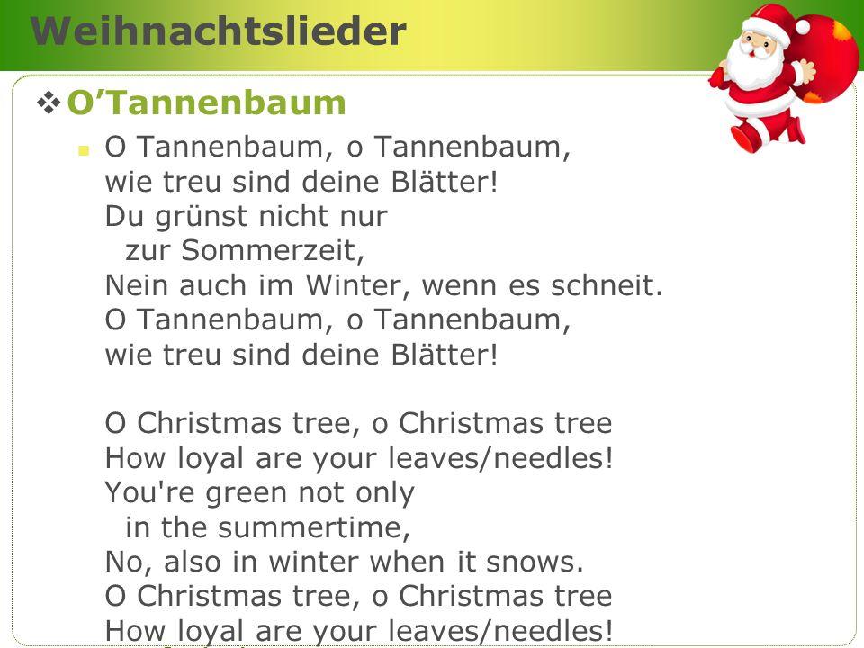 Weihnachtslieder O'Tannenbaum