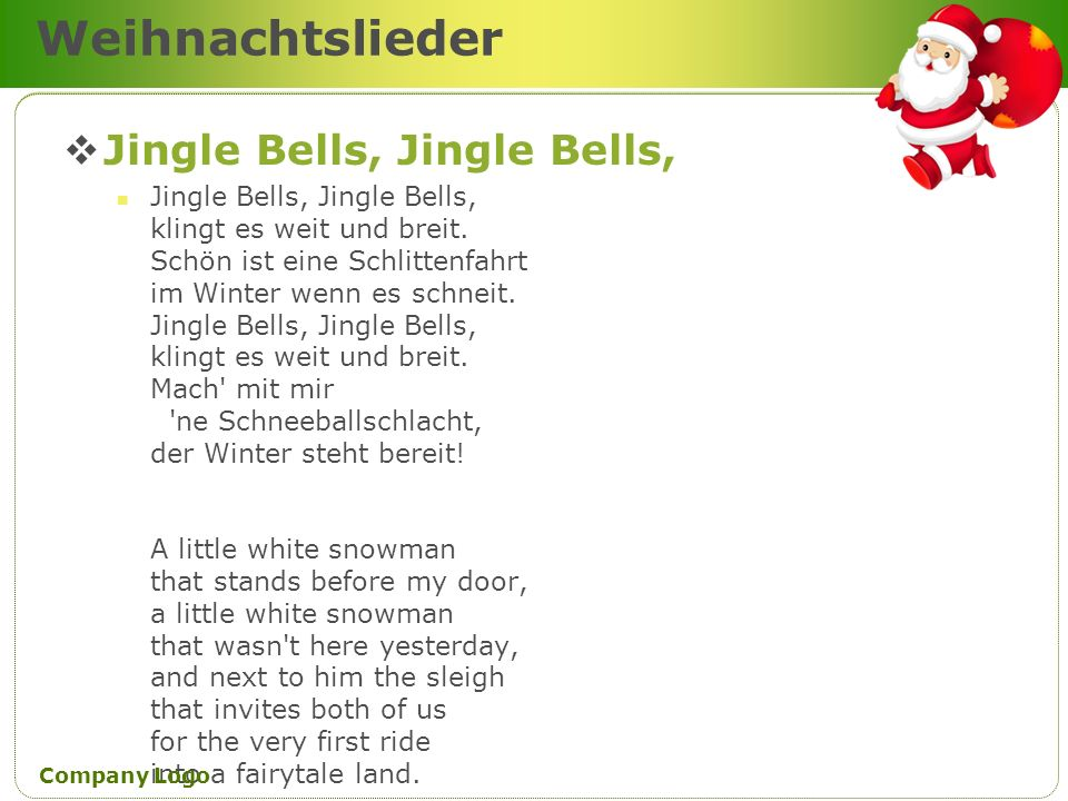 Weihnachtslieder Jingle Bells, Jingle Bells,