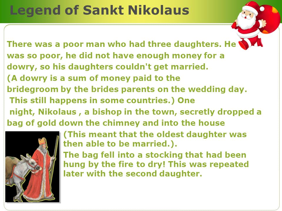 Legend of Sankt Nikolaus