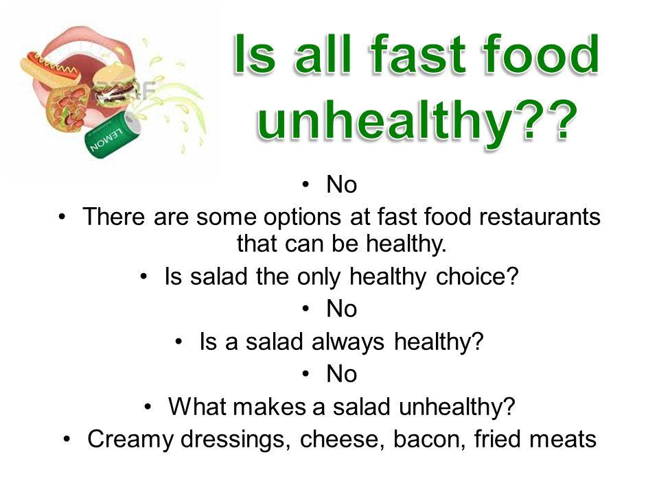 Healthy Menu Options Fast Food