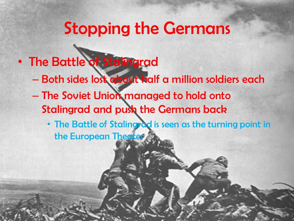 Stopping the Germans The Battle of Stalingrad